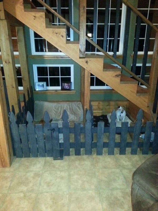 25 great ideas of dog house under staircase tail and fur for Bedroom under stairs
