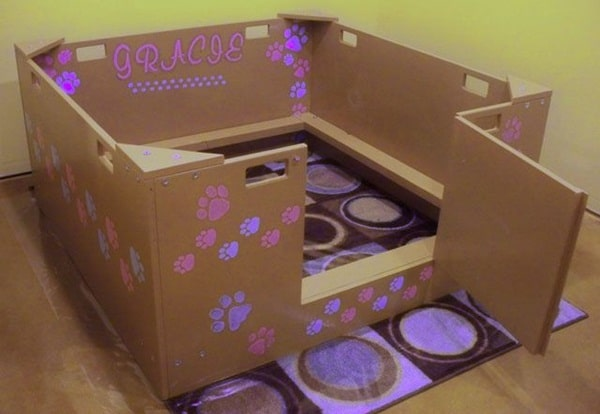 20 comfy and classy whelping box ideas tail and fur for Make a cat bed out of a box