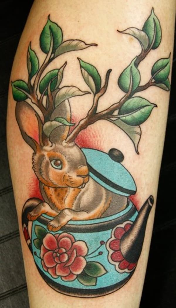40 Cute and Small Rabbit Tattoo Pictures 2