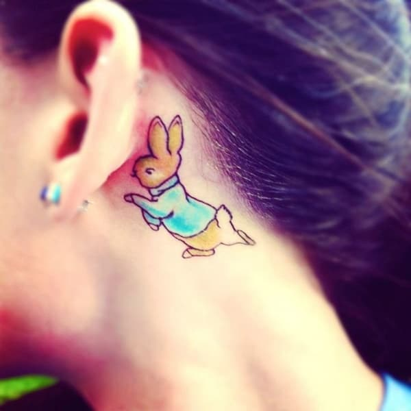 40 Cute and Small Rabbit Tattoo Pictures 31
