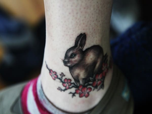 40 Cute and Small Rabbit Tattoo Pictures 33