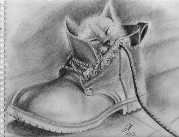 40 Great Examples of Cute and Majestic Cat Drawings 6