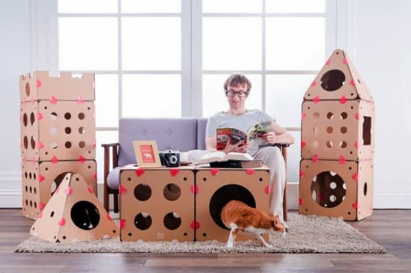 how to make a cat out of cardboard