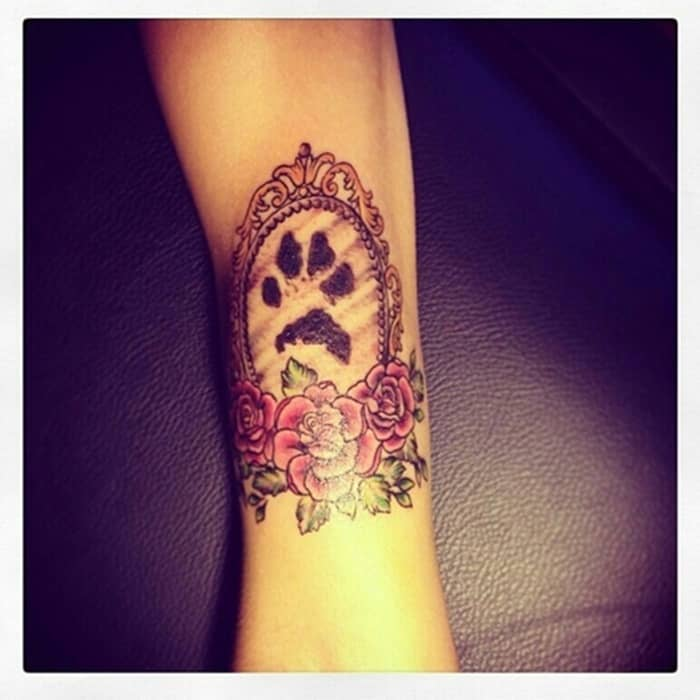 dog paw tattoo (14)