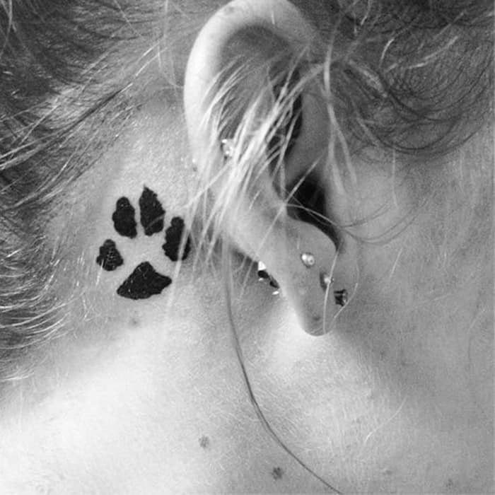 Dog Paw Print Tattoo Writing: 40 Amazing Dog Paw Tattoo Design Ideas In 2019