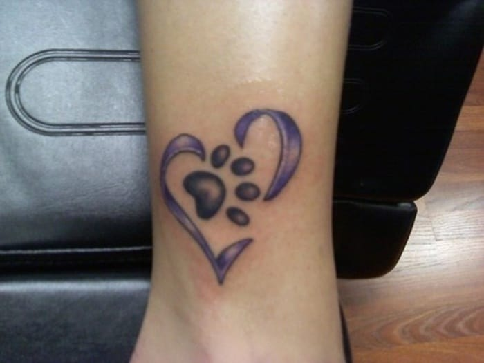 60ff41ede7fa5 40 Amazing Dog Paw Tattoo Design Ideas In 2019