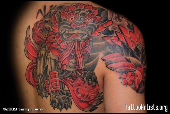 foo dog tattoo (19)