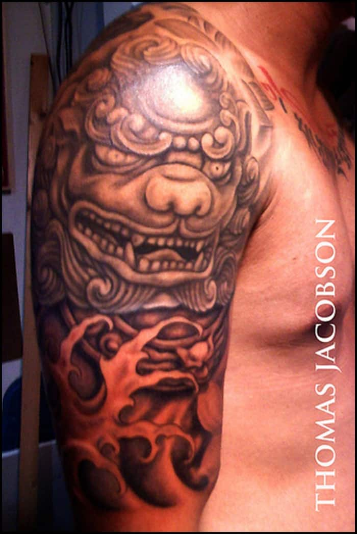 foo dog tattoo (25)