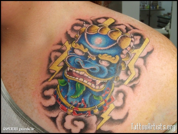 foo dog tattoo (27)