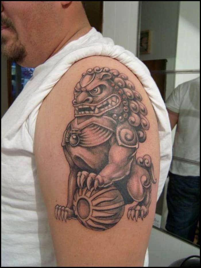 foo dog tattoo (8)
