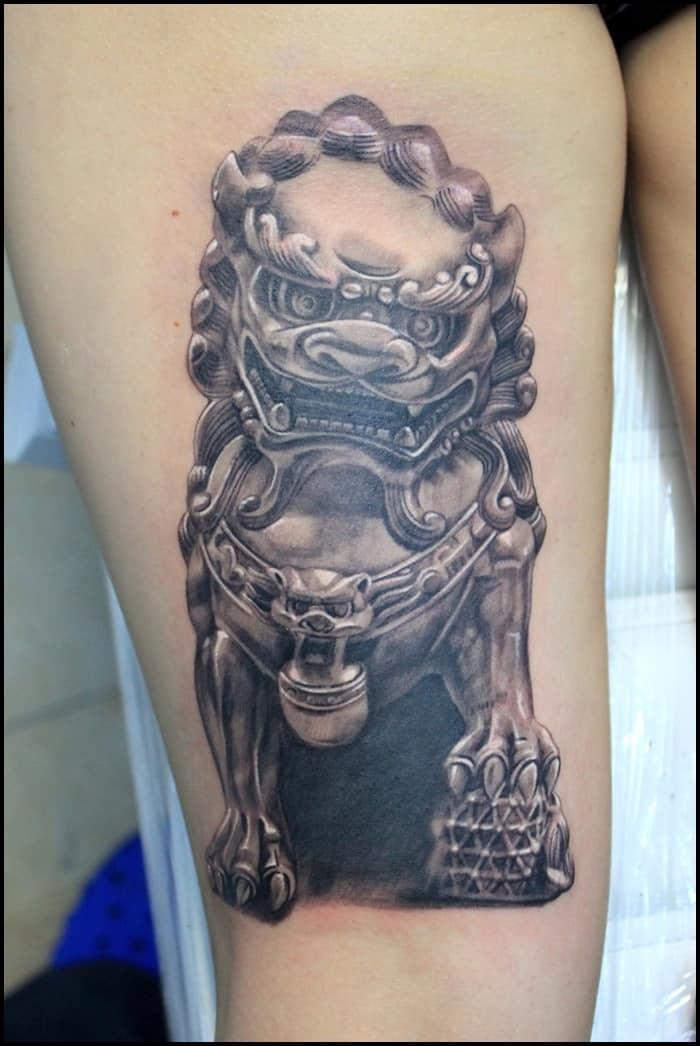 40 Ultimate Foo Dog Tattoo Designs
