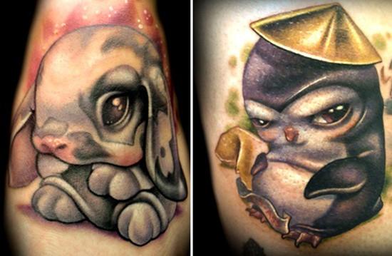 cute baby animals tattoo (26)