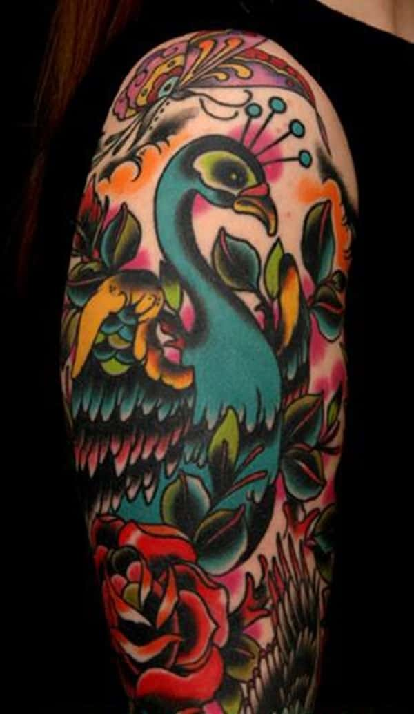 Pictures of Peacock Tattoos (43)