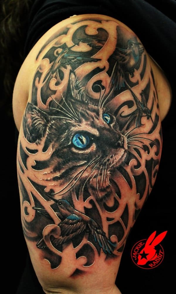 40 Excellent Cat Tattoo Designs and Inspirations10