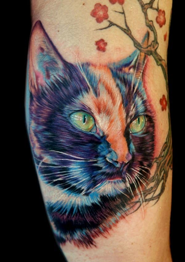 40 Excellent Cat Tattoo Designs and Inspirations11