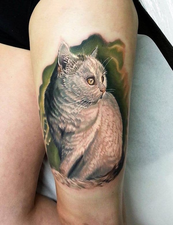 40 Excellent Cat Tattoo Designs and Inspirations16