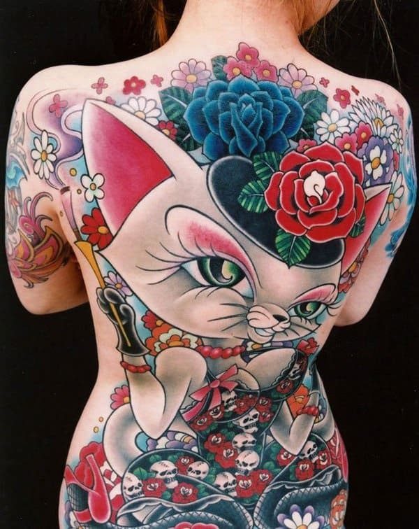 40 Excellent Cat Tattoo Designs and Inspirations21