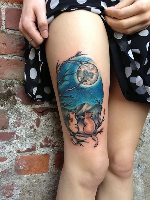 40 Excellent Cat Tattoo Designs and Inspirations26