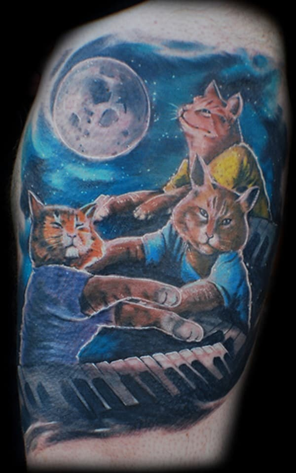 40 Excellent Cat Tattoo Designs and Inspirations34