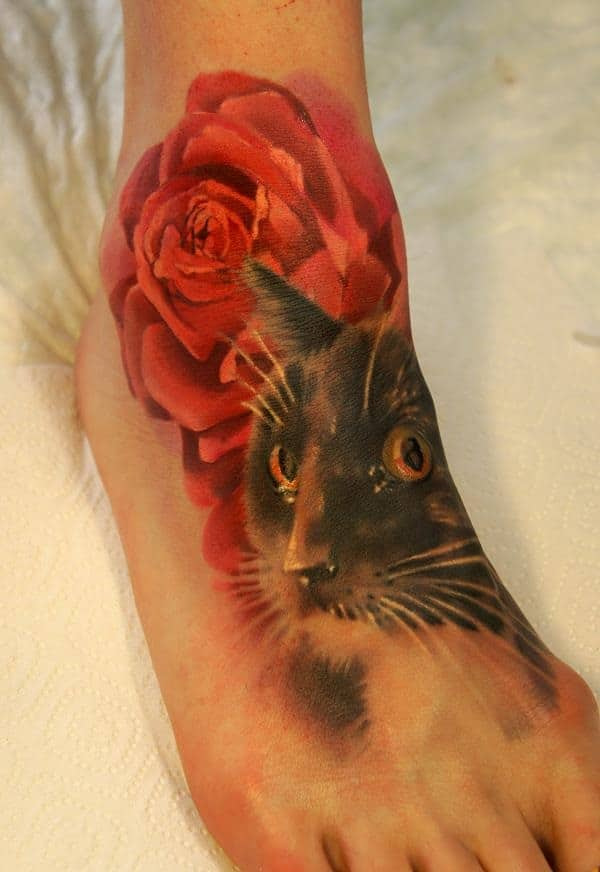 40 Excellent Cat Tattoo Designs and Inspirations7