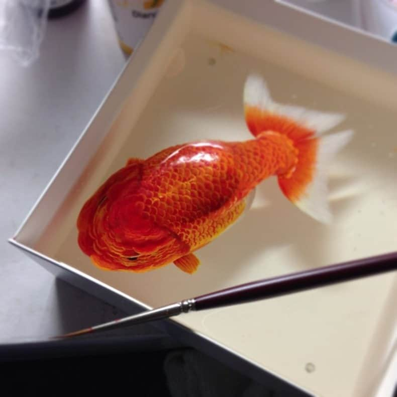 Hyper Realistic 3D Paintings of Aquatic Animals (3)