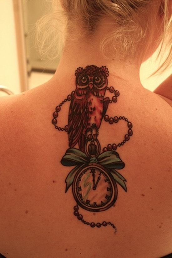 40 Cute Traditional Owl Tattoos (1)