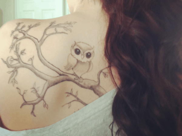 40 Cute Traditional Owl Tattoos (1)