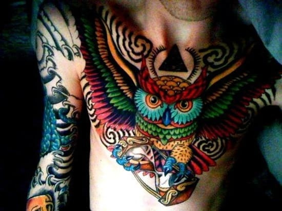 40 Cute Traditional Owl Tattoos (10)