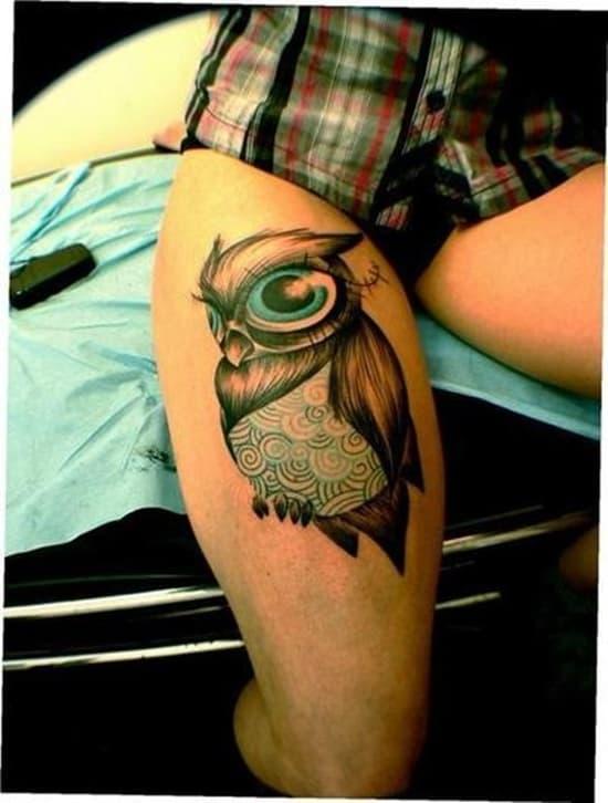 40 Cute Traditional Owl Tattoos (12)