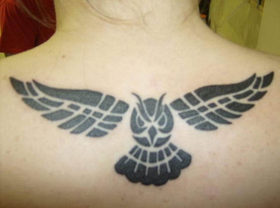 40 Cute Traditional Owl Tattoos (17)