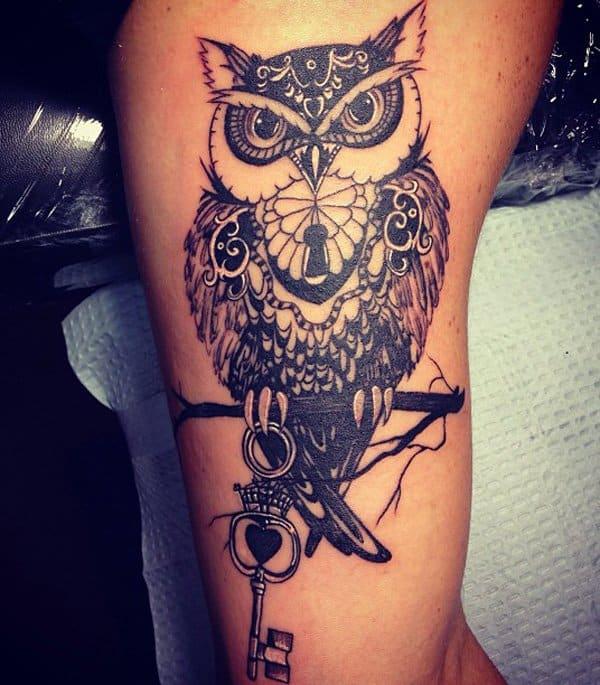 40 Cute Traditional Owl Tattoos (22)