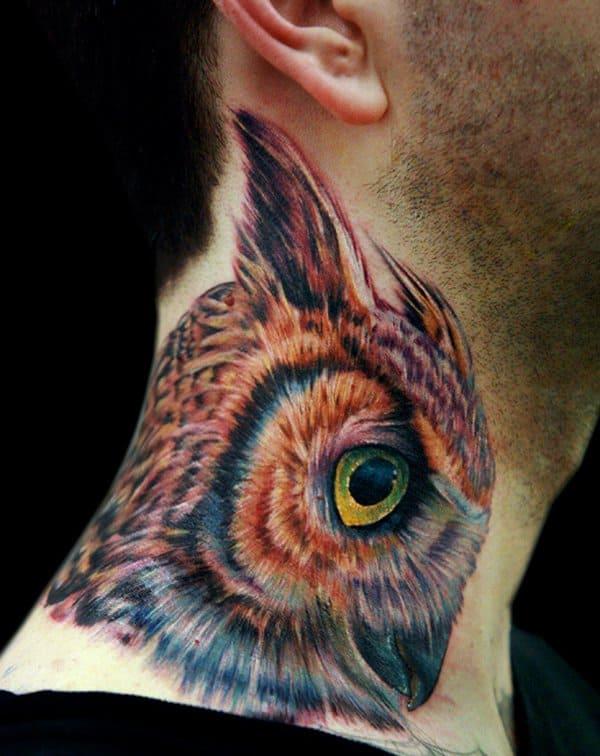 40 Cute Traditional Owl Tattoos (25)