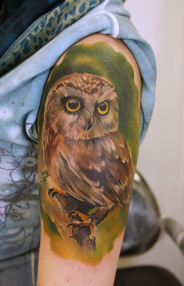 40 Cute Traditional Owl Tattoos (29)