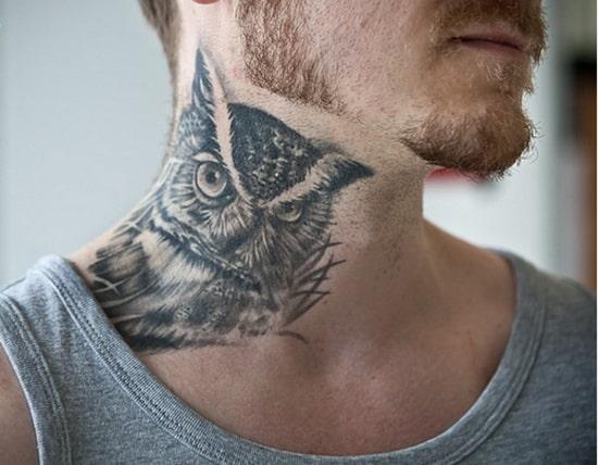 40 Cute Traditional Owl Tattoos (3)
