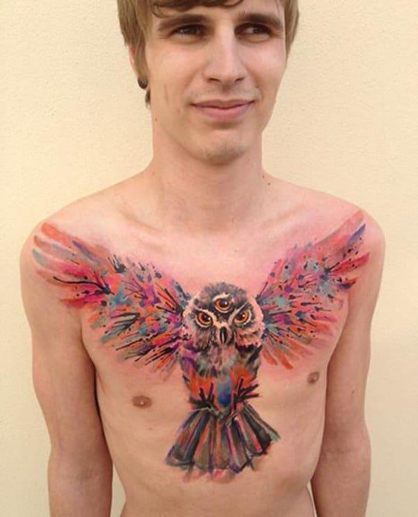 40 Cute Traditional Owl Tattoos (31)