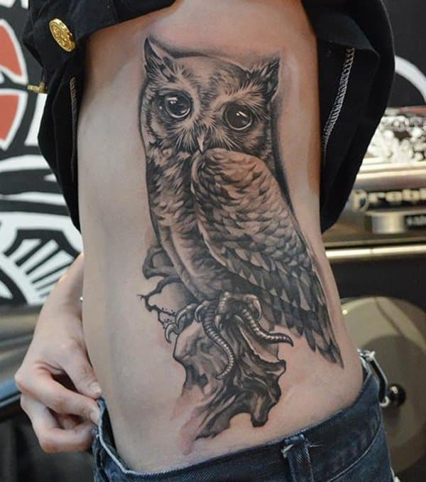 40 Cute Traditional Owl Tattoos (32)