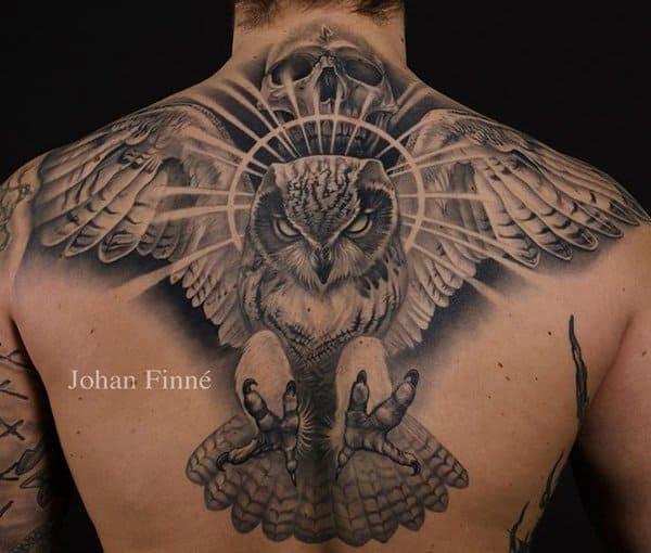 40 Cute Traditional Owl Tattoos (33)