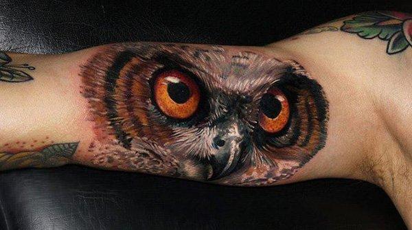 40 Cute Traditional Owl Tattoos (37)