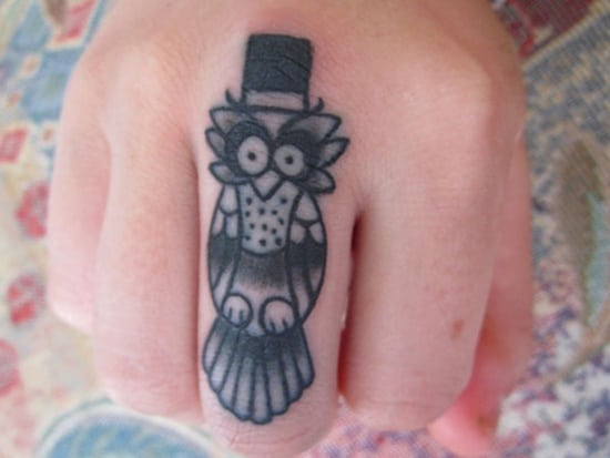 40 Cute Traditional Owl Tattoos (6)