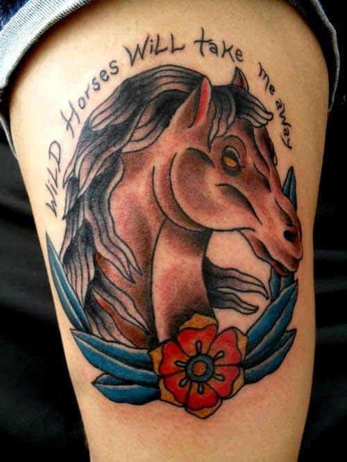 New School Horse Tattoo: 70 Simple And Catchy Horse Tattoo Designs Ideas