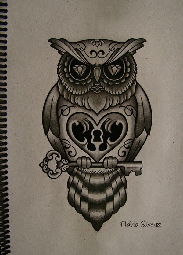 Beautiful Owl Tattoo (1)