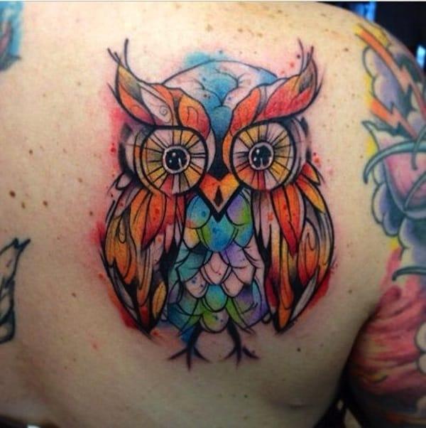 Beautiful Owl Tattoo (11)