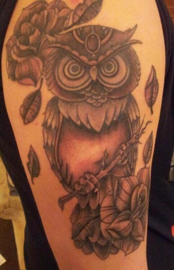 Beautiful Owl Tattoo (20)