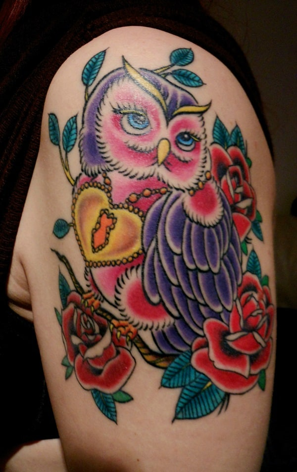 Beautiful Owl Tattoo (27)