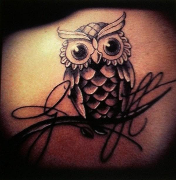 Beautiful Owl Tattoo (3)