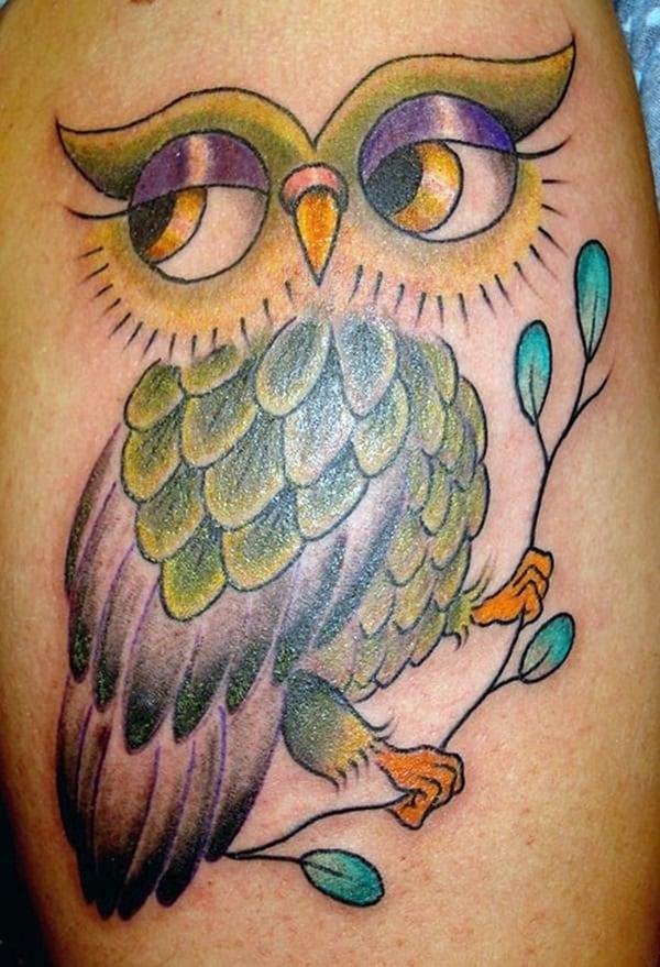 Beautiful Owl Tattoo (34)