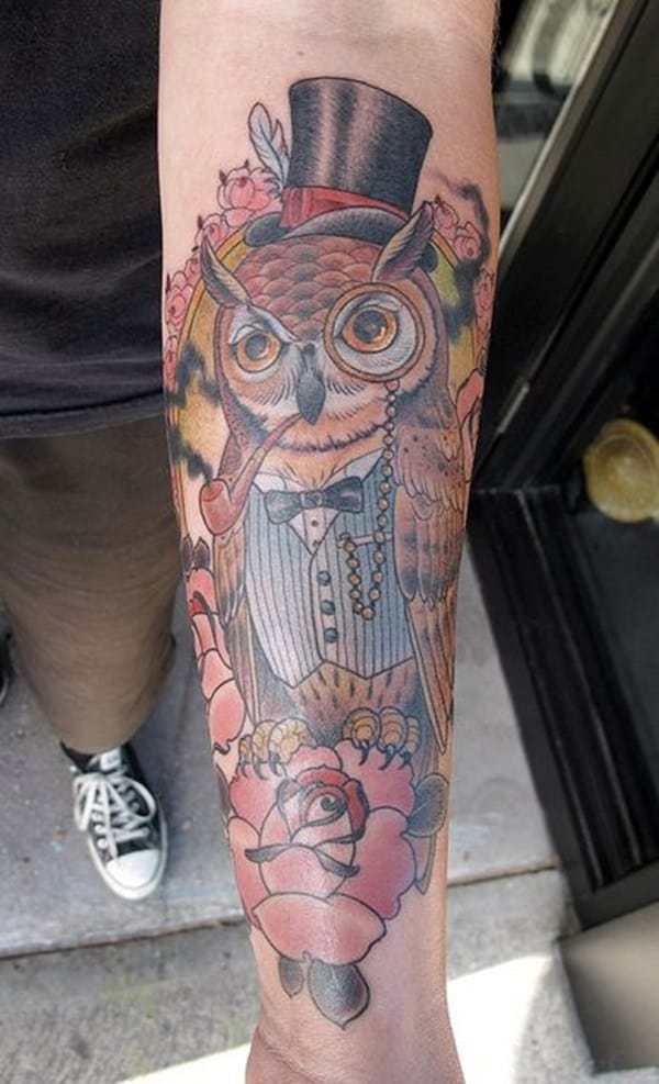 Beautiful Owl Tattoo (35)