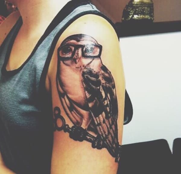 Beautiful Owl Tattoo (39)