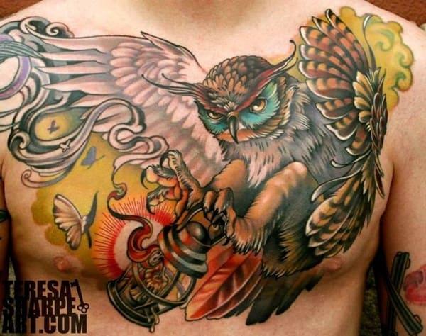 Beautiful Owl Tattoo (4)