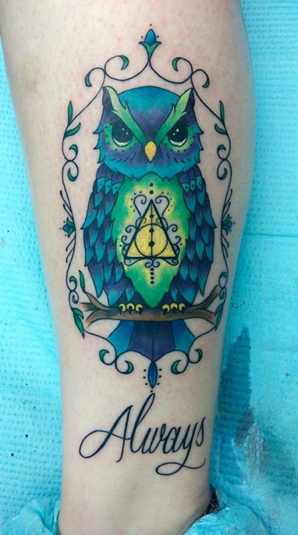 Beautiful Owl Tattoo (42)